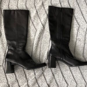 Nine West Over The Calf Black Boots